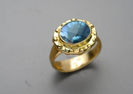 London Blue Elizabethan Ring